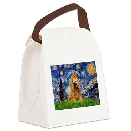 Starry Night/Cocker(#7) Canvas Lunch Bag