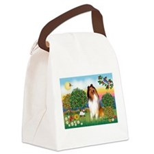 Appletrees / Collie (s) Canvas Lunch Bag