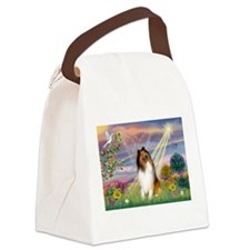 Cloud Angel & Collie Canvas Lunch Bag