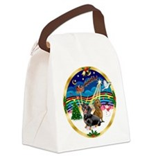 XmasMusic 3/2 Dachshunds Canvas Lunch Bag