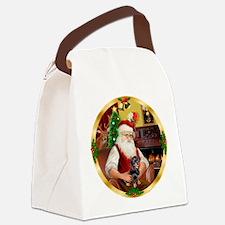 Santa's Dachshund #4 Canvas Lunch Bag