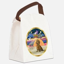 XmasStar/Dachshund #1 Canvas Lunch Bag