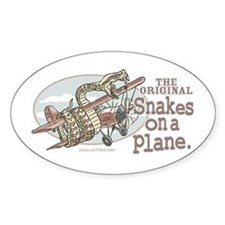 Original Snakes on a Plane Oval Decal