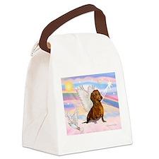 Dachshund / Angel (brn) Canvas Lunch Bag