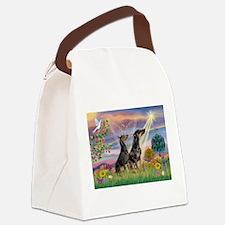 Cloud Angel & Dobie Pair Canvas Lunch Bag