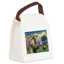 St. Francis Brindle Frenchie Canvas Lunch Bag