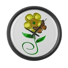 Monarch and Buttercup Large Wall Clock