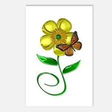 Monarch and Buttercup Postcards (Package of 8)