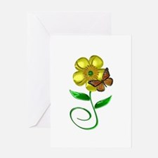 Monarch and Buttercup Greeting Card