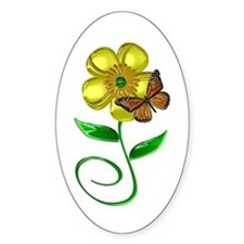 Monarch and Buttercup Decal