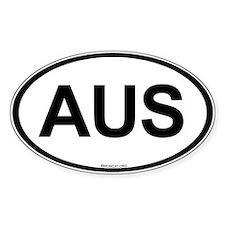 Int'l Country Code Oval Sticker: Australia (AUS)