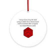 D20 life tracker Ornament (Round)