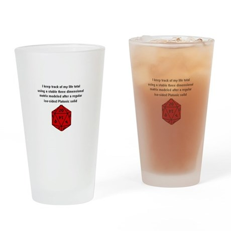 D20 life tracker Drinking Glass