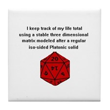 D20 life tracker Tile Coaster