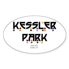 Kessler Park Oval Decal