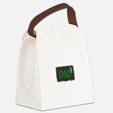 Dad of Three Canvas Lunch Bag