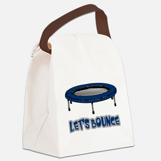 Lets Bounce Trampoline.png Canvas Lunch Bag