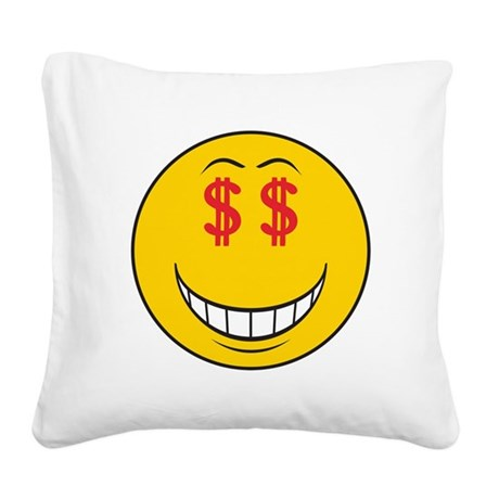 smiley160.png Square Canvas Pillow