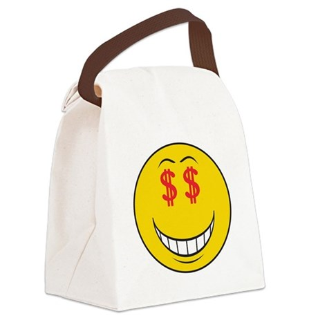 smiley160.png Canvas Lunch Bag
