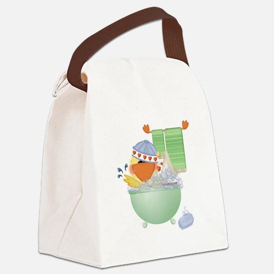 cute bathtime ducky.png Canvas Lunch Bag
