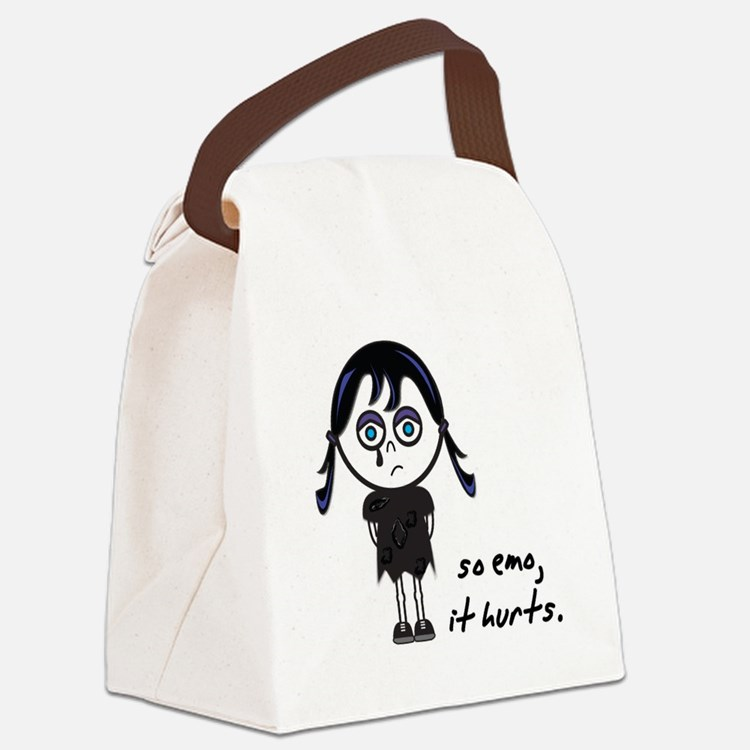 so emo girl.png Canvas Lunch Bag