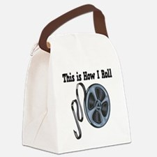 How I Roll Movie Film Tape.png Canvas Lunch Bag