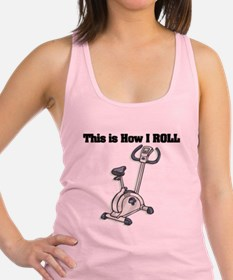 exercise bike.png Racerback Tank Top