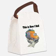 3-garbage truck.png Canvas Lunch Bag