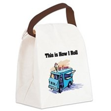 ice cream truck.png Canvas Lunch Bag