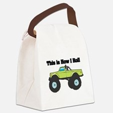 monster truck.png Canvas Lunch Bag