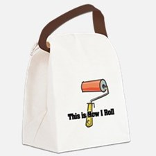 paint roller.png Canvas Lunch Bag