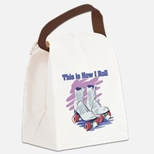 roller skates.png Canvas Lunch Bag