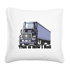 tractor trailer.png Square Canvas Pillow