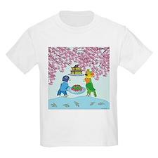 Lovebirds in Japan Kids T-Shirt