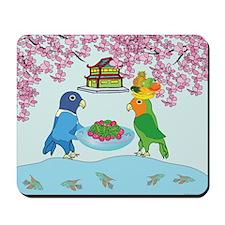 Lovebirds in Japan Mousepad