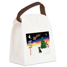 XmasSigns/Lab (choc) Canvas Lunch Bag