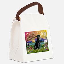 Black Lab in Fantasyland Canvas Lunch Bag