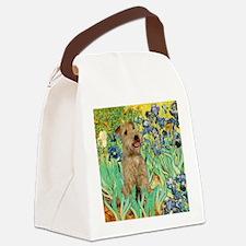 TILE-Irises-LakelandT.PNG Canvas Lunch Bag