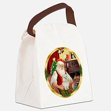 Santa's Maltese 11 Canvas Lunch Bag