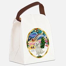 XmasMagic/Maltese #11 Canvas Lunch Bag