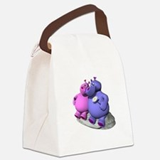 hippos in love copy.jpg Canvas Lunch Bag