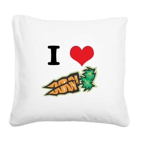 carrots.jpg Square Canvas Pillow