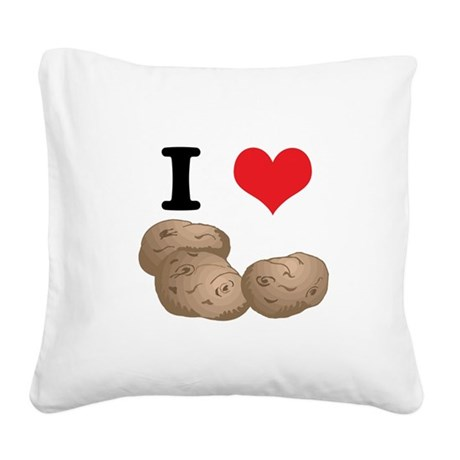 potatoes.jpg Square Canvas Pillow