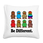 Be Different Ducks.png Square Canvas Pillow