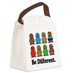 Be Different Ducks.png Canvas Lunch Bag
