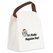 nudie magazine day.png Canvas Lunch Bag