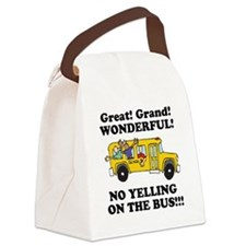 no yellin on the bus.png Canvas Lunch Bag