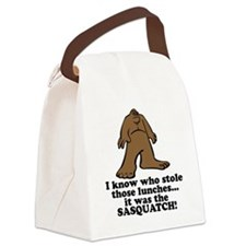 sasquatch stole lunches.png Canvas Lunch Bag
