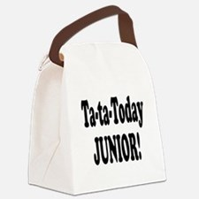 ta ta today junior.png Canvas Lunch Bag