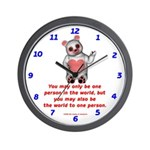 One Person Wall Clock
